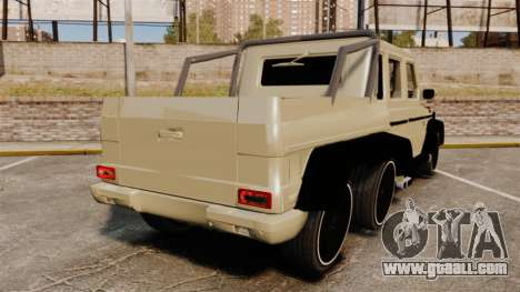 Mercedes-Benz G63 AMG 6x6 for GTA 4 back left view