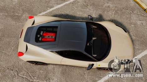Ferrari 458 Italia 2011 for GTA 4 right view