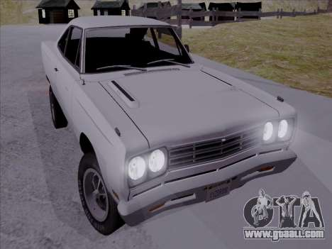 Plymouth Road Runner 383 1969 for GTA San Andreas