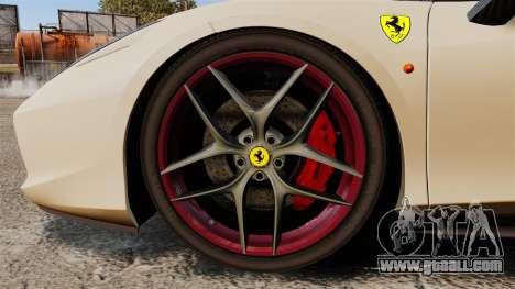 Ferrari 458 Italia 2011 for GTA 4 back view