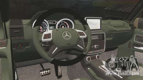 Mercedes-Benz G65 (W463) 2012 AMG for GTA 4 inner view