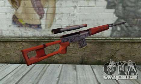 SVD Sniper Rifle for GTA San Andreas second screenshot