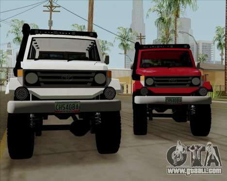 Toyota Land Cruiser Machito 2009 LX for GTA San Andreas back left view