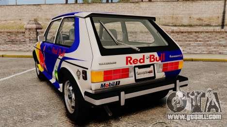 Volkswagen Rabbit GTI 1984 for GTA 4 back left view