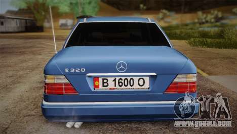 Mercedes-Benz E320 W124 for GTA San Andreas back view