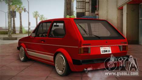 Volkswagen Golf MK1 Red Vintage for GTA San Andreas right view