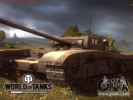 Boot screen World of Tanks for GTA San Andreas third screenshot