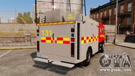 Scania 94D 260 BAS1 Stockholm Fire Brigade [ELS] for GTA 4 back left view