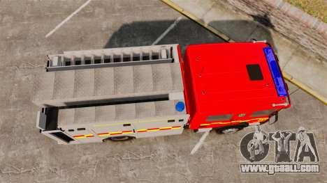 Scania 94D 260 BAS1 Stockholm Fire Brigade [ELS] for GTA 4 right view