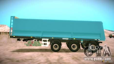 Trailer for Artict2 for GTA San Andreas left view