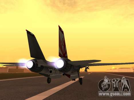 F-14 LQ for GTA San Andreas back left view