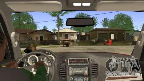 Mitsubishii Pajero IV for GTA San Andreas inner view