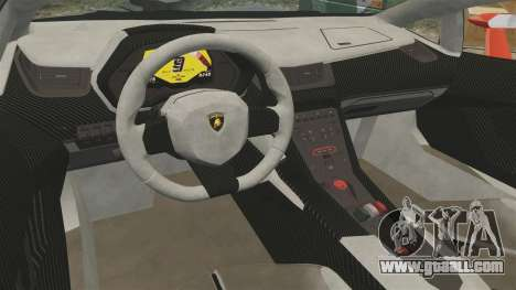 Lamborghini Veneno Roadster LP750-4 2014 for GTA 4 back view