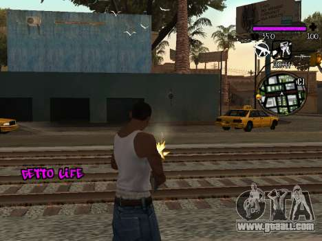 C-HUD Ghetto Life for GTA San Andreas third screenshot