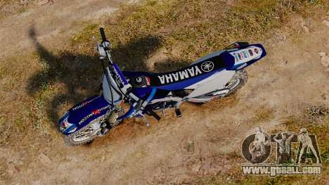 Kawasaki KX250F (Yamaha) for GTA 4 right view