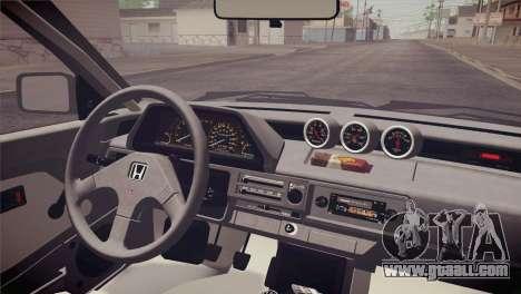 Honda Civic Si 1986 HQLM for GTA San Andreas