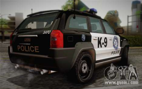 NFS Suv Rhino Light - Police car 2004 for GTA San Andreas left view