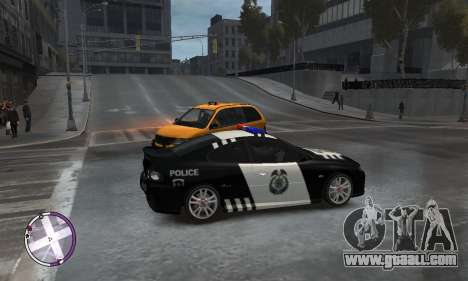 Holden Monaro CV8-R Police for GTA 4 right view
