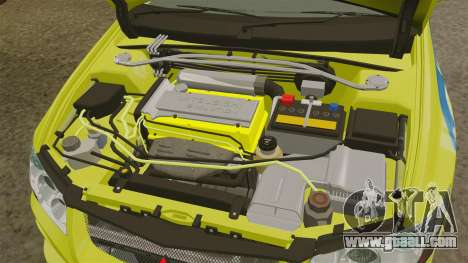Mitsubishi Lancer Evolution VII 2002 for GTA 4 back view