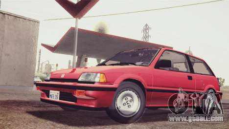 Honda Civic Si 1986 HQLM for GTA San Andreas back left view
