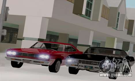 Plymouth Road Runner 383 1969 for GTA San Andreas back view