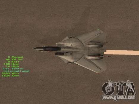 F-14 LQ for GTA San Andreas interior