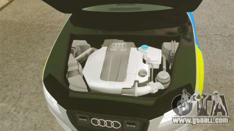 Audi S4 2013 Metropolitan Police [ELS] for GTA 4 inner view