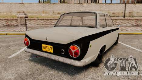 Lotus Cortina 1963 for GTA 4 back left view