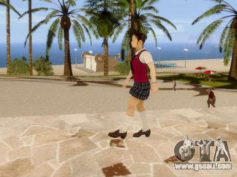 Hanako for GTA San Andreas eighth screenshot