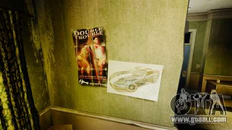 New posters in the apartment of the Novel for GTA 4