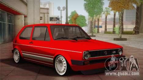 Volkswagen Golf MK1 Red Vintage for GTA San Andreas