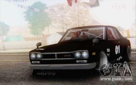 Nissan Skyline 2000 GTR Drift for GTA San Andreas