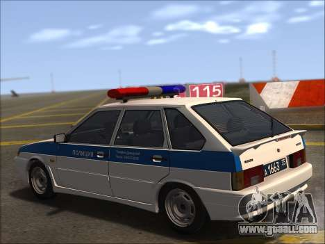 VAZ 2114 Police DPS for GTA San Andreas upper view
