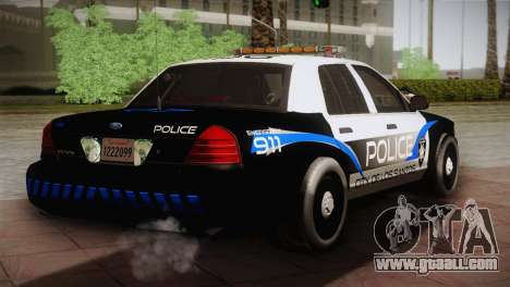 Ford Crown Victoria Police Interceptor 2009 for GTA San Andreas back left view