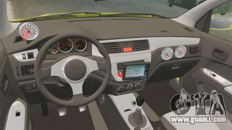 Mitsubishi Lancer Evolution VII 2002 for GTA 4 inner view