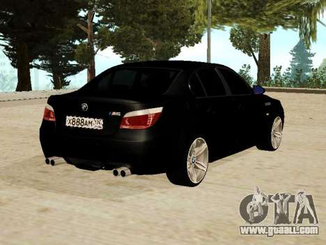 BMW M5 for GTA San Andreas back left view