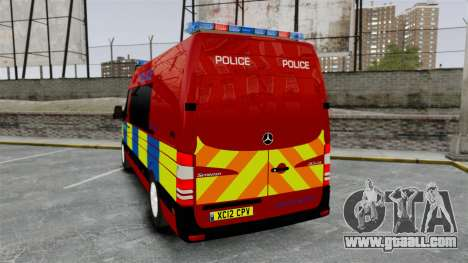 Mercedes-Benz Sprinter 313 CDI Police [ELS] for GTA 4 back left view