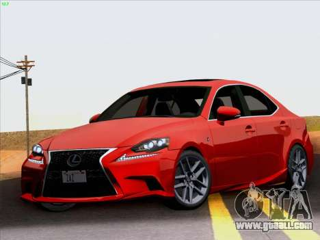 Lexus IS350 2014 F-SPORT for GTA San Andreas