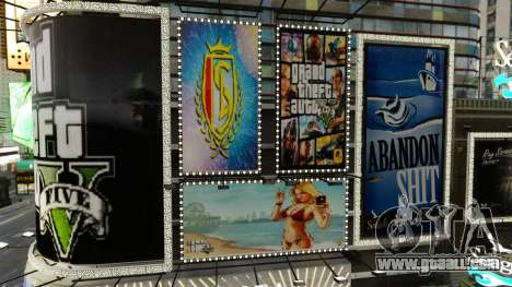 Billboards of GTA 5 for GTA 4 second screenshot