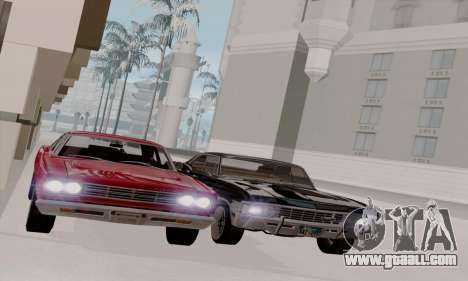 Plymouth Road Runner 383 1969 for GTA San Andreas inner view