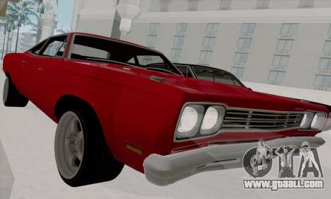 Plymouth Road Runner 383 1969 for GTA San Andreas side view