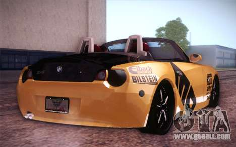 BMW Z4 V10 Stanced for GTA San Andreas back left view