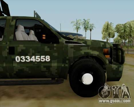 Ford F350 for GTA San Andreas right view