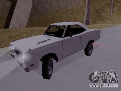 Plymouth Road Runner 383 1969 for GTA San Andreas back left view