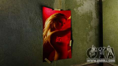 New posters in the apartment of the Novel for GTA 4 second screenshot