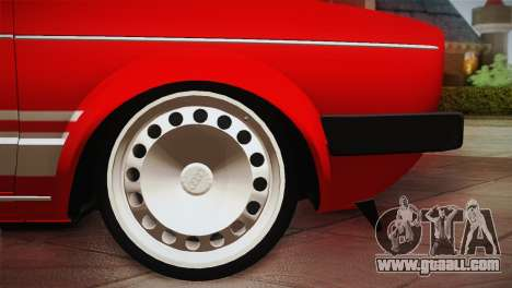 Volkswagen Golf MK1 Red Vintage for GTA San Andreas inner view
