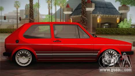 Volkswagen Golf MK1 Red Vintage for GTA San Andreas left view