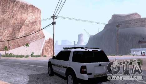 Ford Explorer Sheriff 2010 for GTA San Andreas back left view