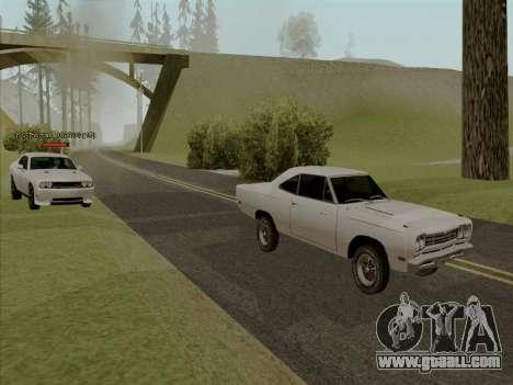 Plymouth Road Runner 383 1969 for GTA San Andreas wheels