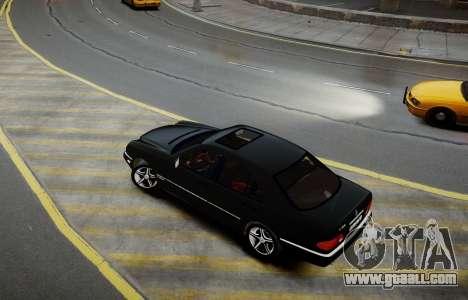 Mercedes-Benz E280 Beta for GTA 4 back left view